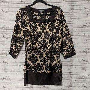 Apt. 9 black & gold party dress square neck Sz:S